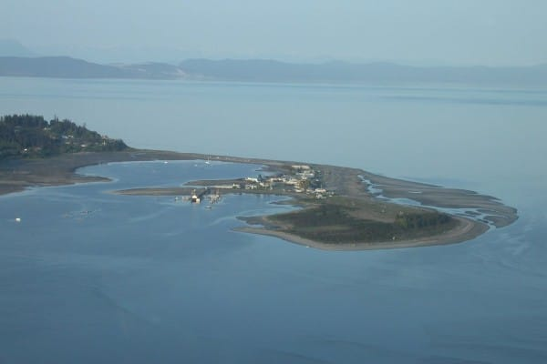 photo of the Comox Spit also known as Goose Spit near the Town of Comox